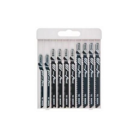 Pack de 10 Lames de scie sauteuse Basic for Wood 2607010629