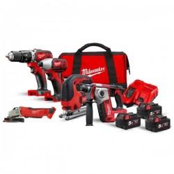 MILWAUKEE Pack 5 outils 18V 3x5Ah - M18BPP5A-503A - 4933472243