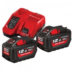 MILWAUKEE Pack HNRG 18V 2x12Ah HighOutput Red Li-ion M18 - 4933471365