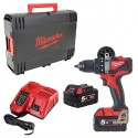 MILWAUKEE Perceuse visseuse 18V 5Ah M18 BLDD2-502X - 4933464515