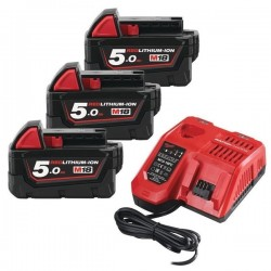 MILWAUKEE Pack M18 NRG-503 18V 3x5.0Ah RedLithium-Ion - 4933451423