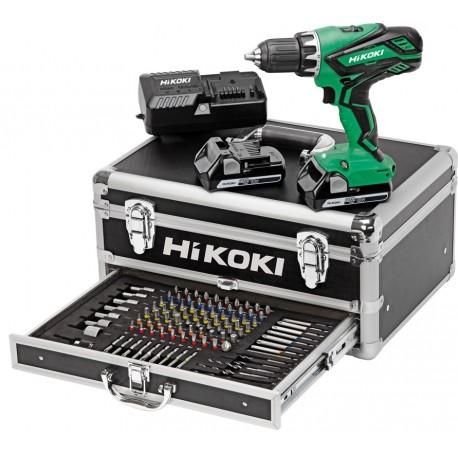 HIKOKI Kit perceuse visseuse KC18DJLFZ en coffret ALU avec 100 accessoires