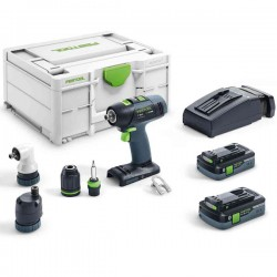 FESTOOL Perceuse Visseuse 18V T18+3 HPC 4,0 I-Set - 576455