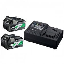 HIKOKI Pack 2 batteries Multivolt 18V/36V 4,0/8,0Ah + Chargeur - UC18YSL3WFZ