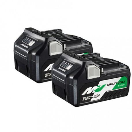 HIKOKI Pack 2 batteries Multivolt 18V/36V  BSL36A18
